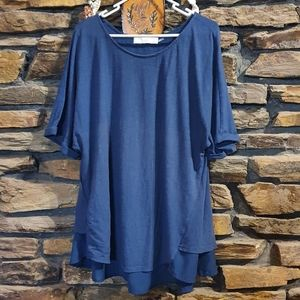 Size L Alessi blue layered top